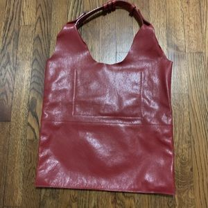 Handbags - Leather tote bag made in Italy red